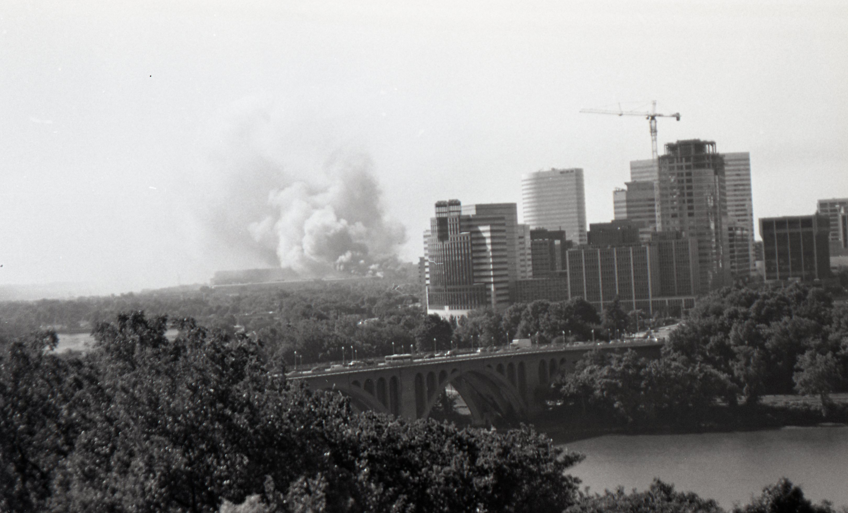 View from Lauinger on 9/11