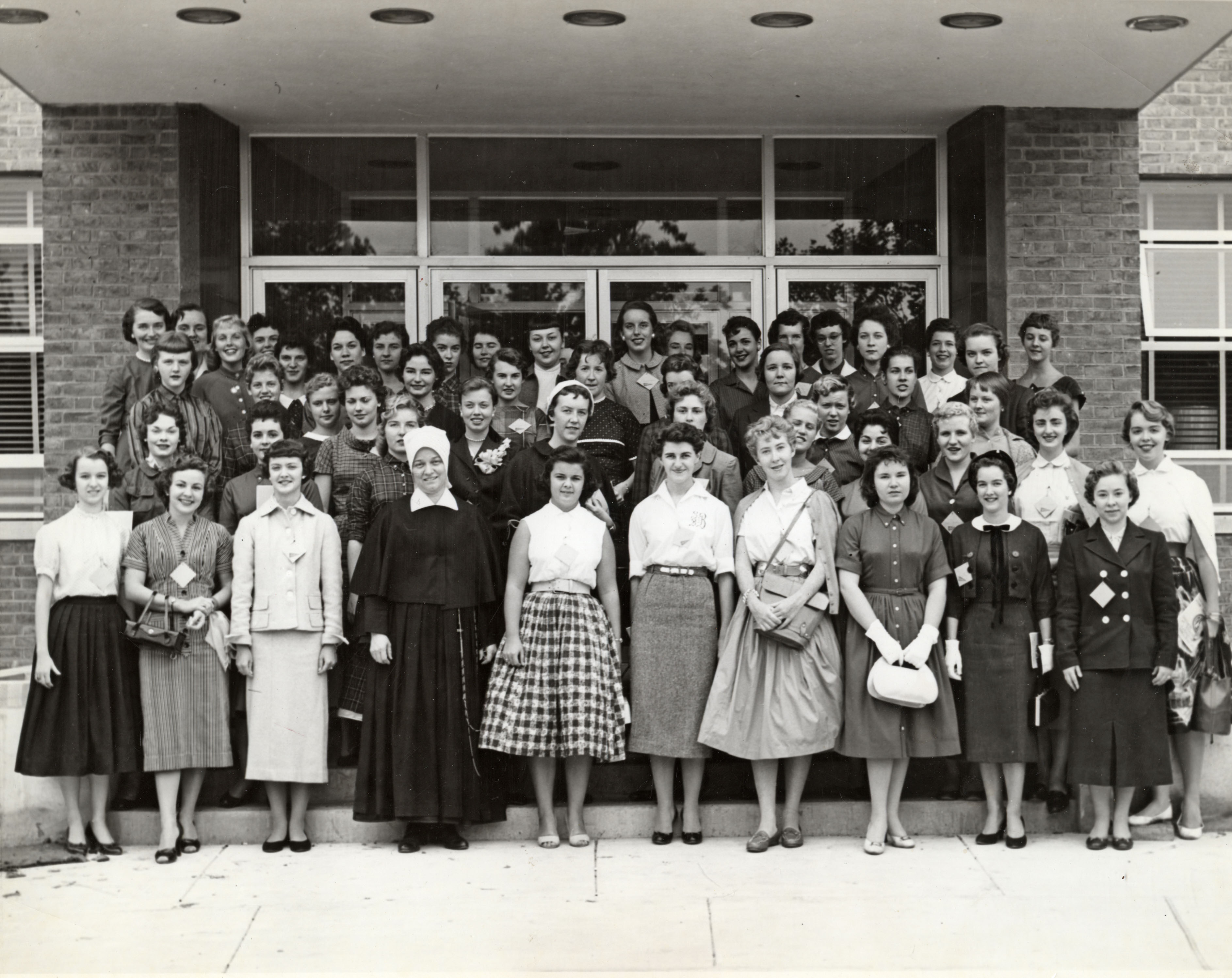 Women in front of St. Mary's