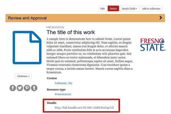 ScholarWorks handle link
