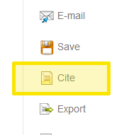 EBSCOhost Cite tool