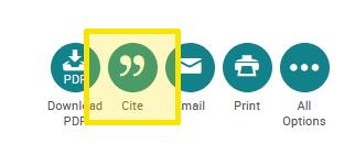 ProQuest Cite tool
