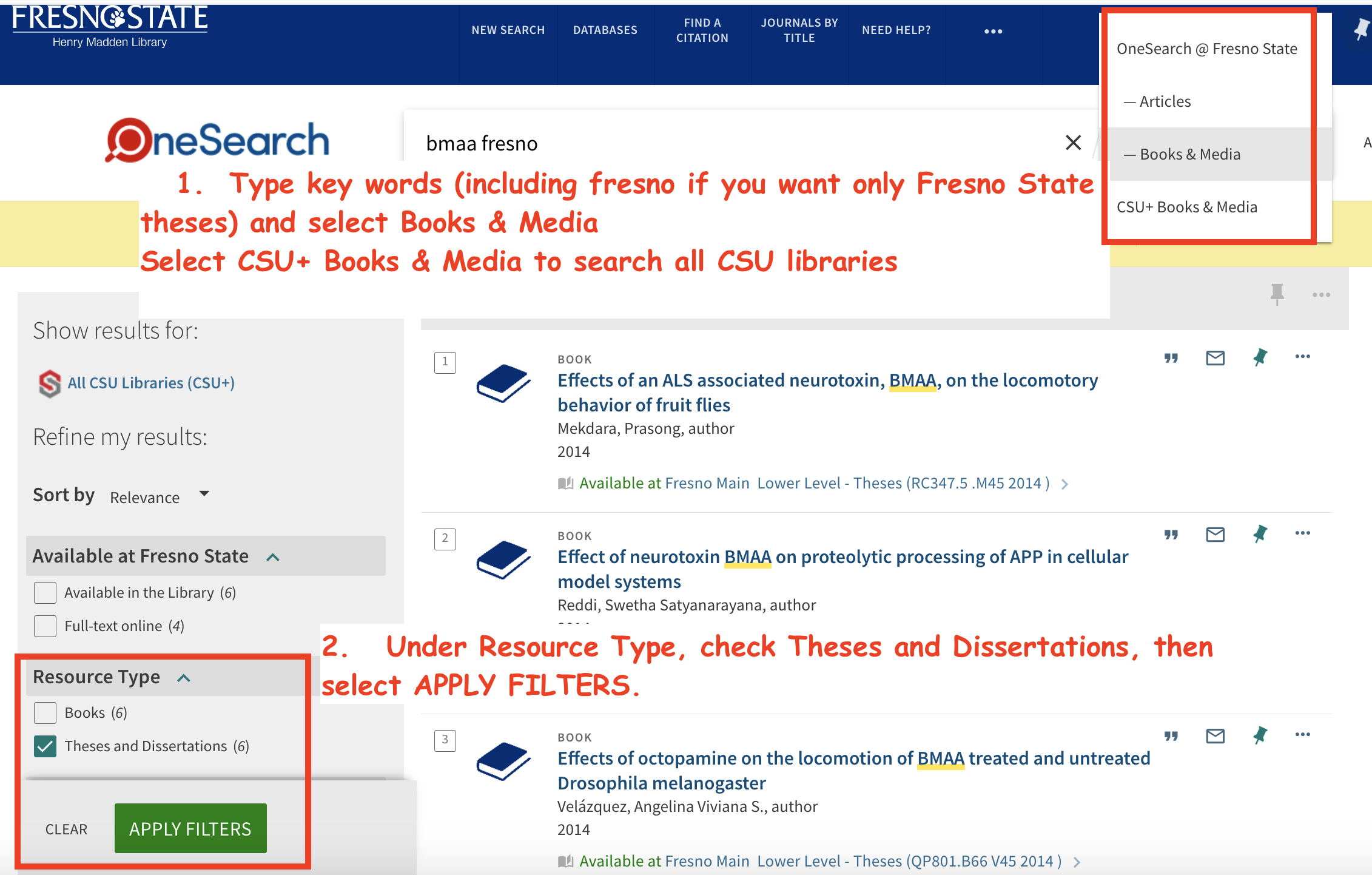 OneSearch for  CSU theses