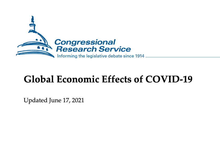 Global economic effects of COVID CRS report