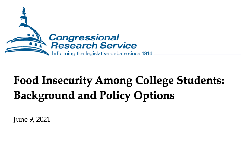 food insecurity among college students- CRS report