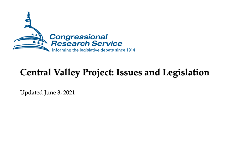 Central Valley Project CRS report