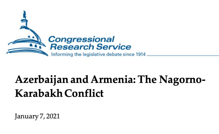 Nagorno-Karabakh conflict- CRS report