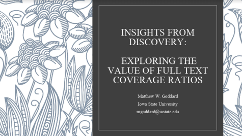 cover slide Full Text Coverage Ratios presentation