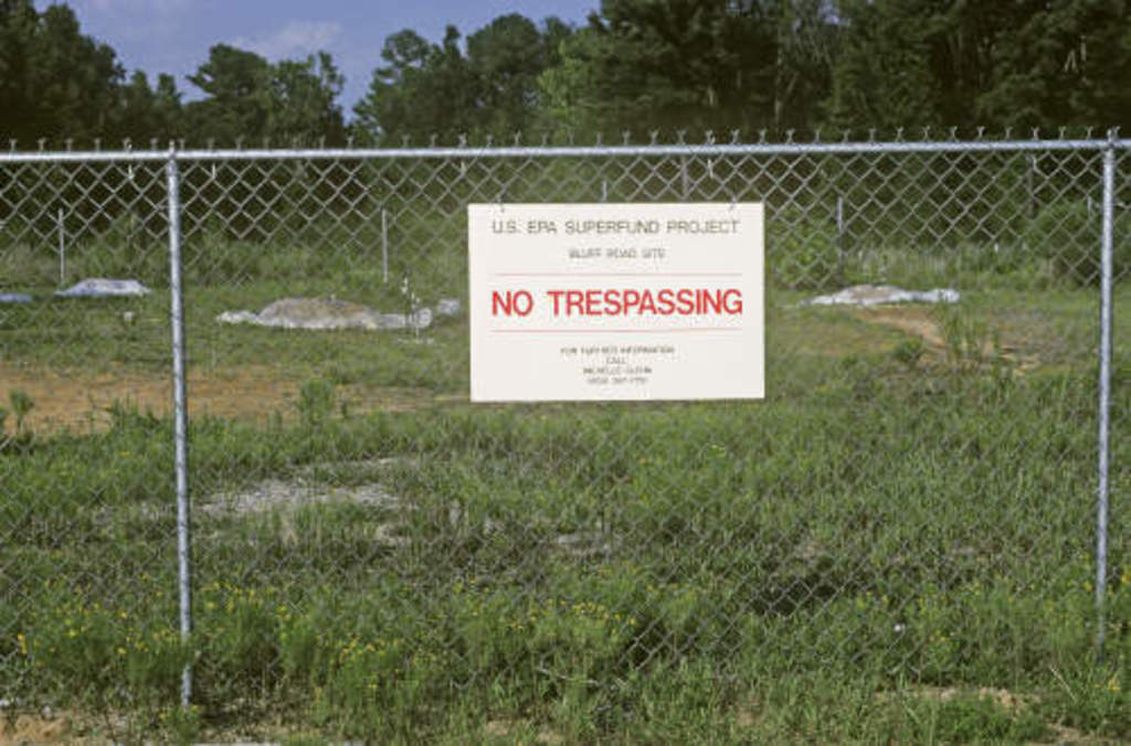 EPA Superfund site at Bluff Road near Columbia, South Carolina. The property had been used for waste storage.