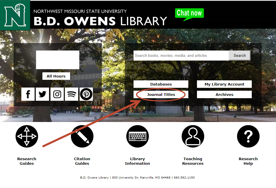 [ B.D. Owens Library Homepage ]