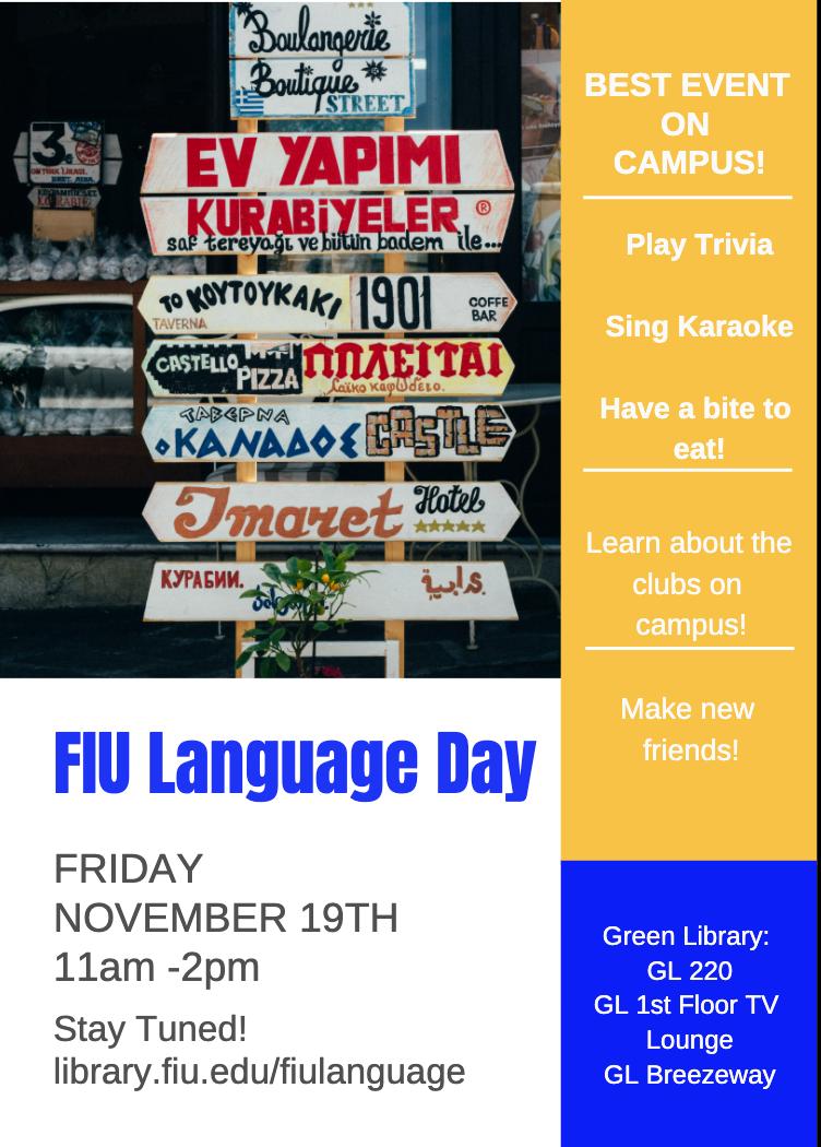 FIU Language Day Flyer
