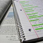 handwritten study notebook