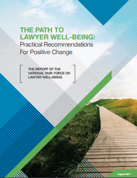 The Path to Lawyer Well-Being