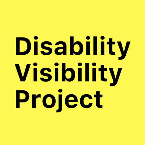 """Logo with yellow backbround and black text reading """"Disability Visibility Project"""""""