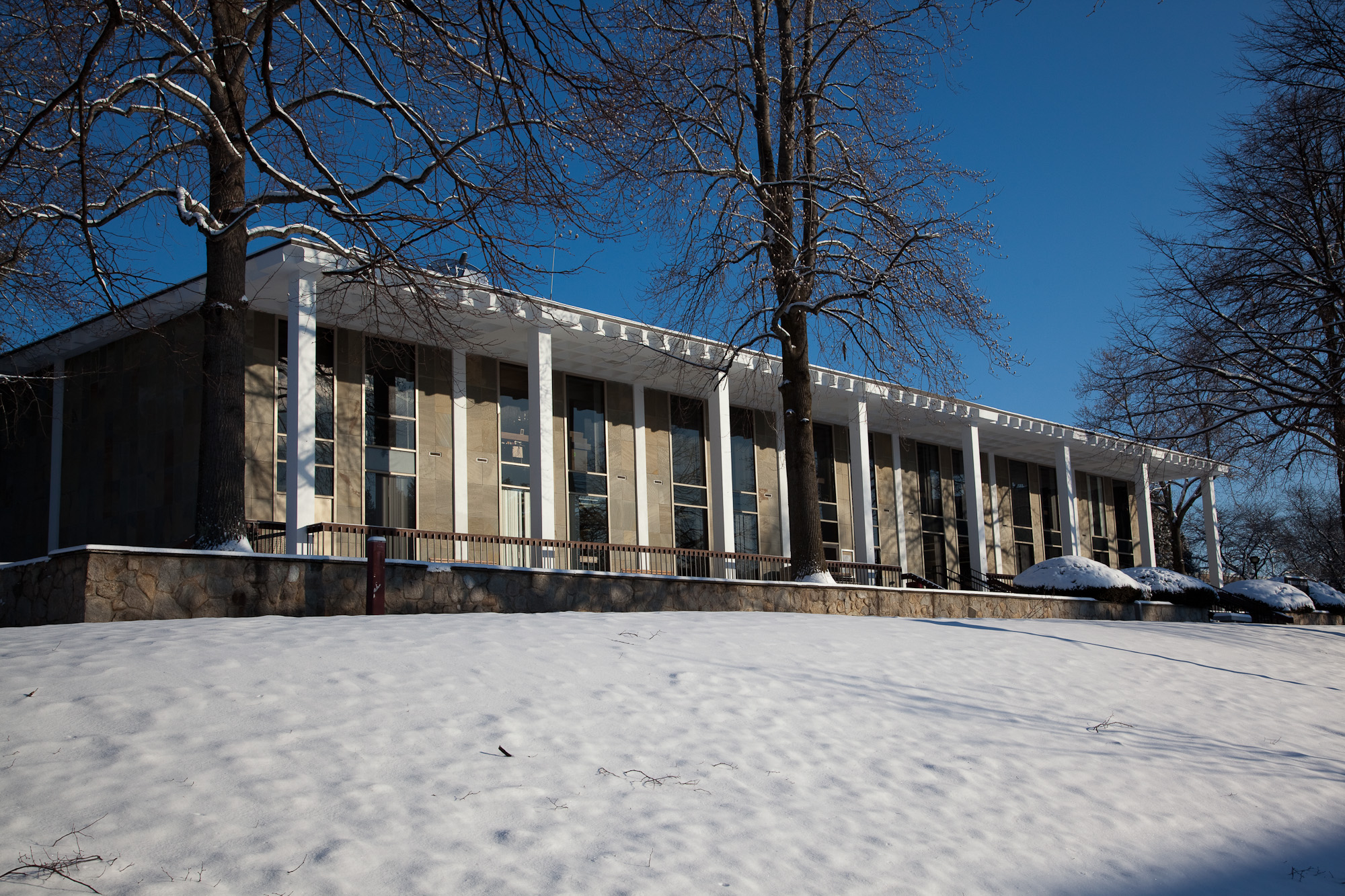 Adams Library in Winter