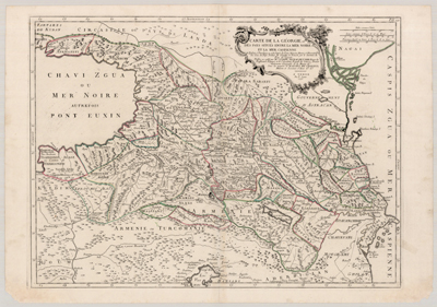 Map, Carte de la Georgie 1775