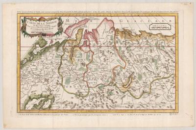 Map, Carte de la Siberie 1747