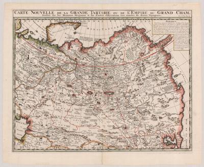 Map, 1705, Carte nouvelle de la Grande_Tartari