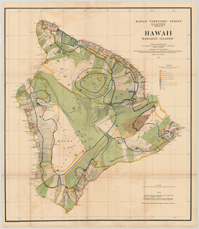 Map, Hawaii, 1901