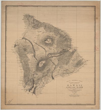 Map, Hawaii, 1886
