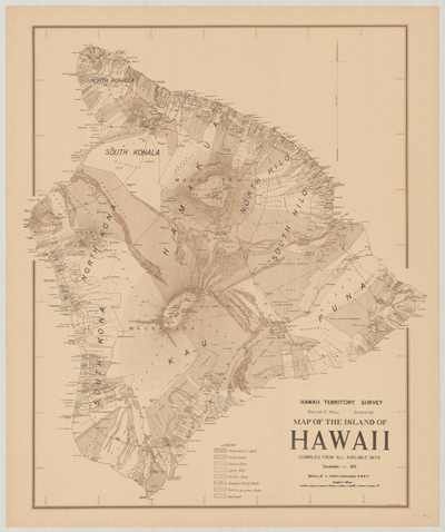 Map, Hawaii 1928