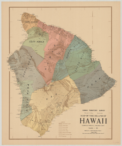 Map, Hawaii, 1928c