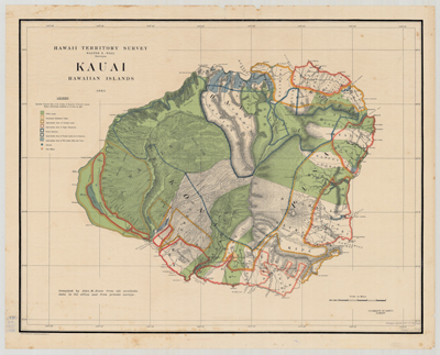 Map, Kauai 1903