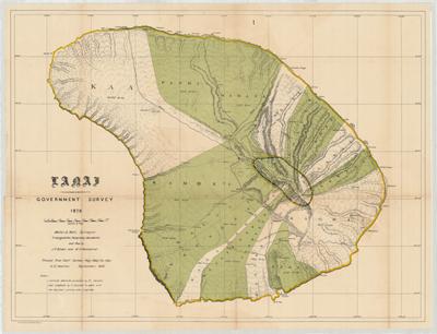 Map, Lanai 1878