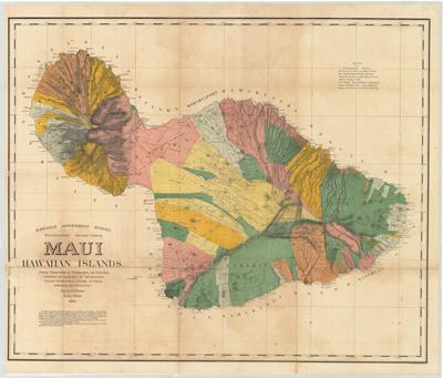 Map, Maui 1885