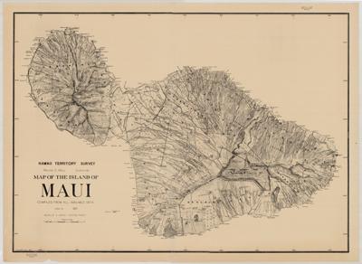 Map, Maui 1829