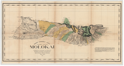 Map, Molokai 1897 (1:90,000)