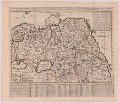 Map, 1705, Nouvelle Carte de Moscovie