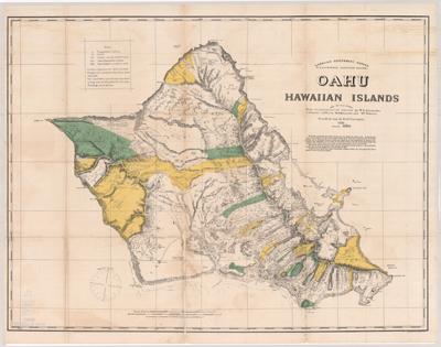 Map, Oahu 1881
