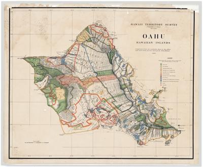 Map, Oahu 1902