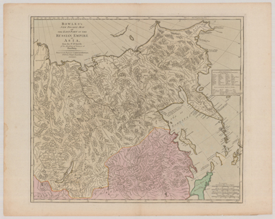 Map, 1780, Russian Empire in Asia