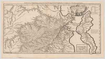 Map, 1738, The Tenth Sheet of Chinese Tartary
