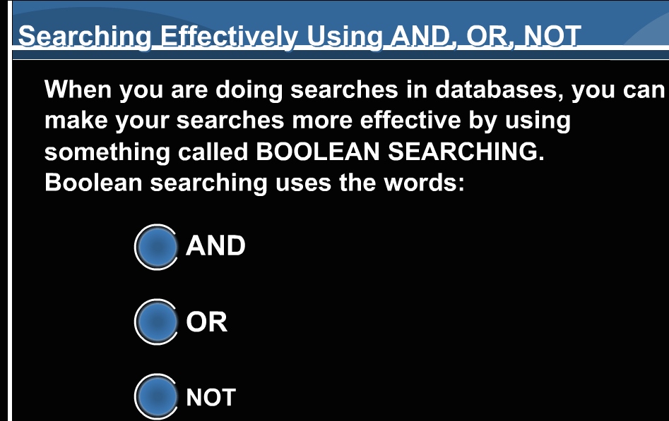 Boolean search tutorial