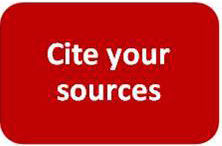 Cite your sources