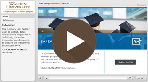 Video: SafeAssign Student Tutorial