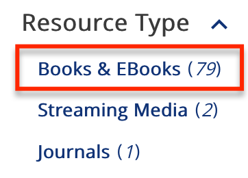 Resource Type: Books & EBooks.