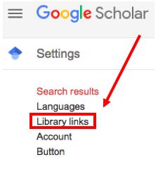 Google Scholar Library Links