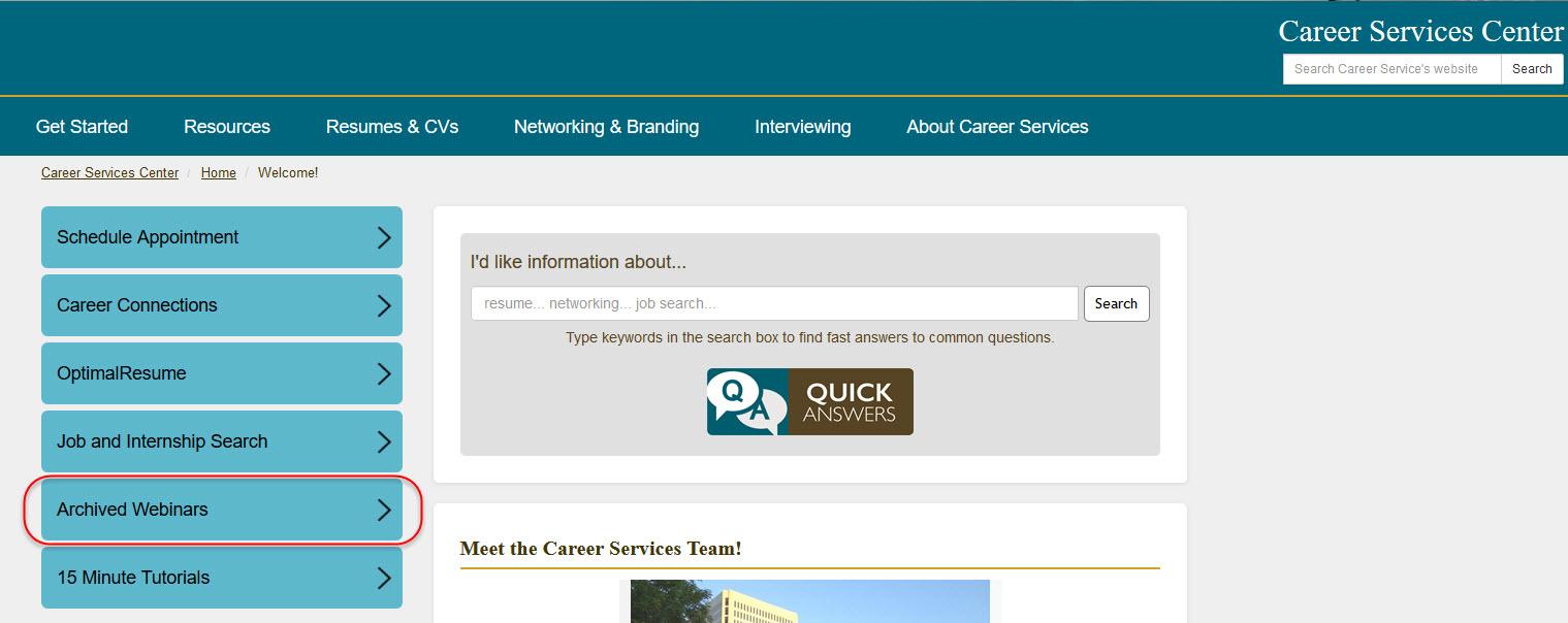 Archived Webinars Screenshot