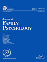 cover image of journal of family psychology