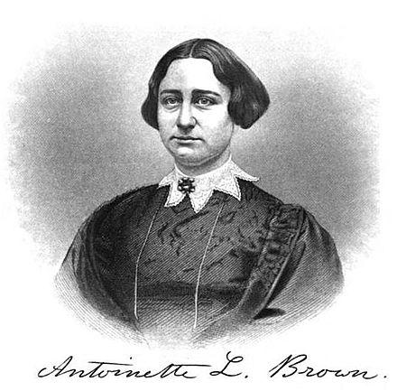 Sketched Portrait of Antoinette Brown Blackwell