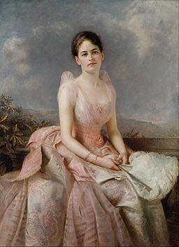 Painted Portrait of Juliette Gordon Lowe