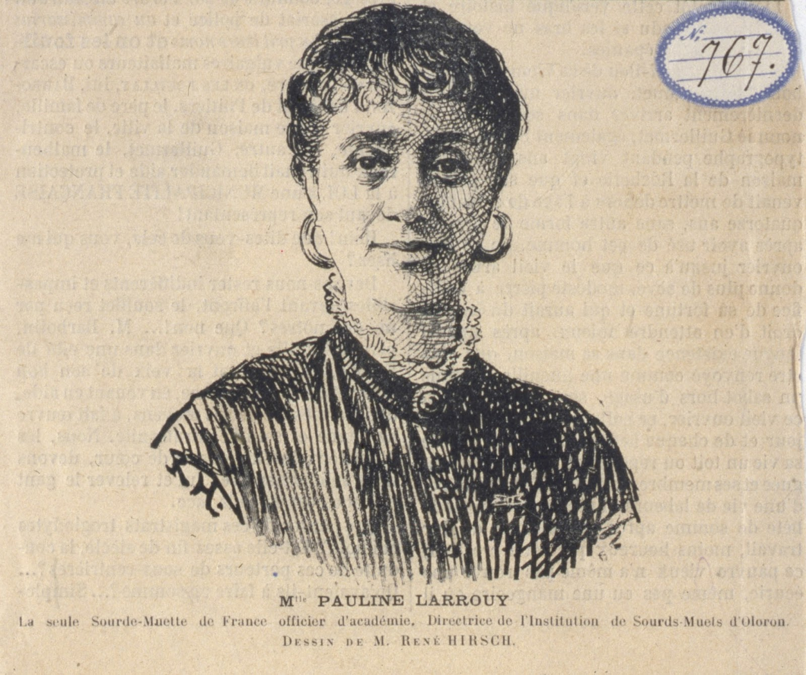 Sketched Portrait of Marie Pauline Larrouy