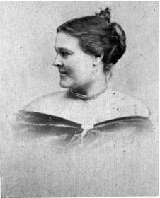 Photograph of Laura Redden Searing (side view)