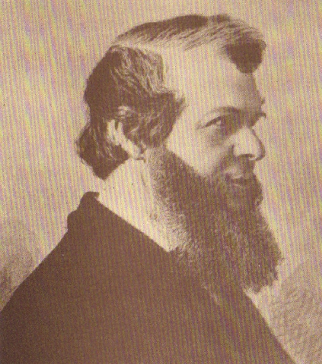 Portrait of Edmund Booth (side view)