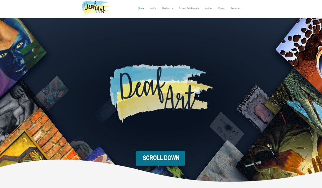 This is the home page of the Deaf Art, Deaf Artists website.