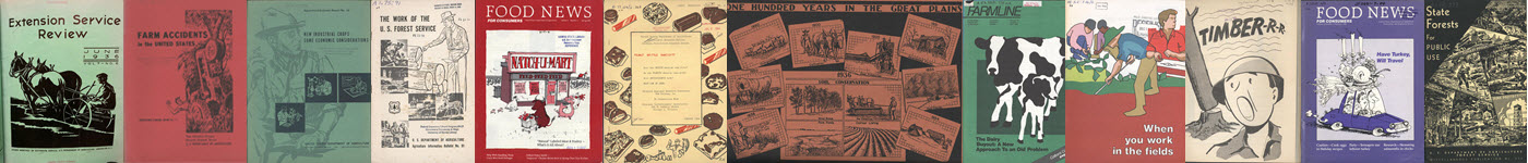 Covers of USDA publications