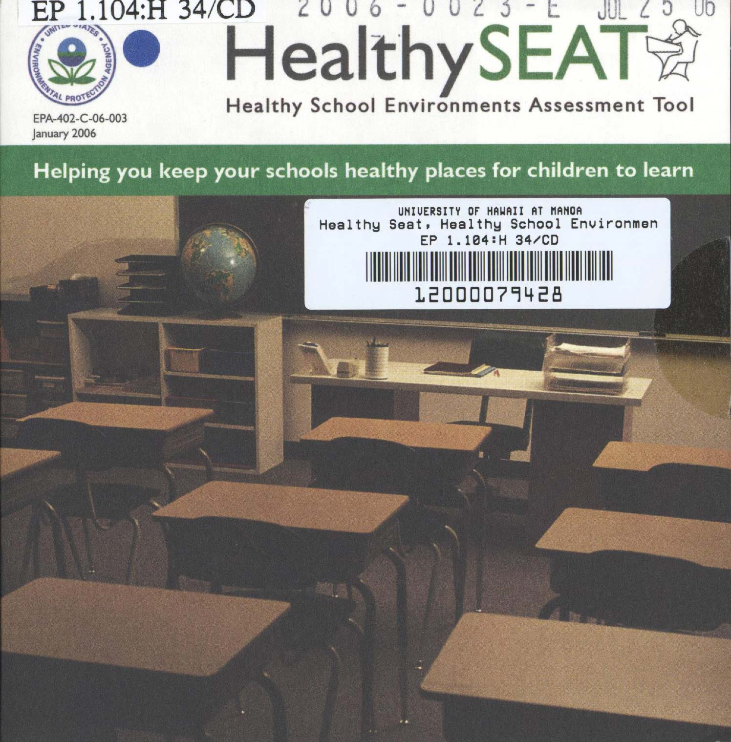Image of CD-ROM cover showing a classroom with desks and chairs